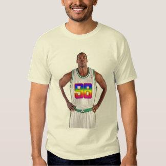 Camiseta blanca del estilo del arco iris 98 de JC Playeras