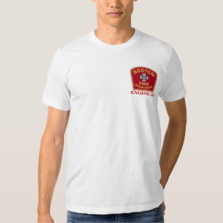 Camiseta blanca del fuego Engine-33 de Boston Playeras