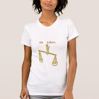 Camiseta blanca del libra de la muestra del zodiac