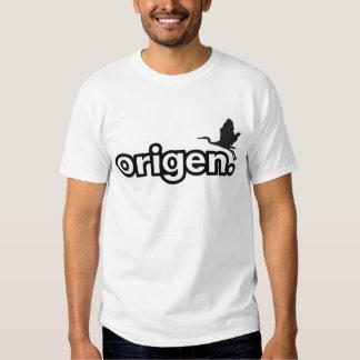 Camiseta blanca del logotipo llano de Origen Polera
