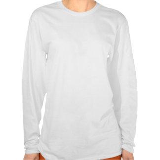 Camiseta blanca del LS de las señoras del nombre d