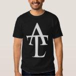 Camiseta blanca del negro del logotipo de ATL Poleras