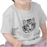 Camiseta blanca del niño del tigre