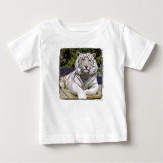 Camiseta blanca del niño del tigre 9 playera