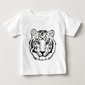 Camiseta blanca del niño del tigre polera
