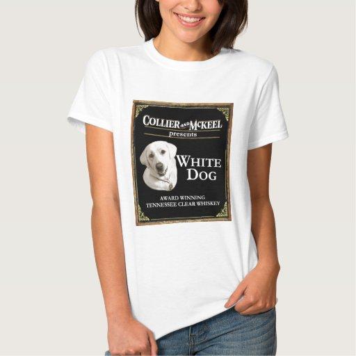 Camiseta blanca del perro de la muñeca de las poleras