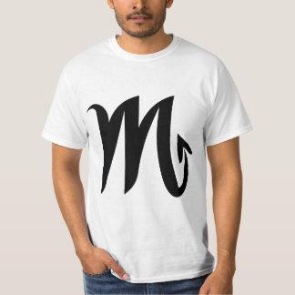 Camiseta blanca del valor del escorpión