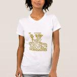 camiseta blanca del virgo del zodiaco