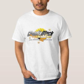 Camiseta blanca en línea negra 02 de Claudia