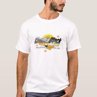 Camiseta blanca en línea negra de Claudia
