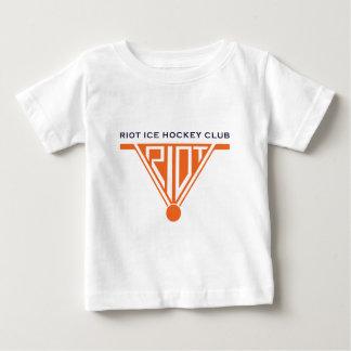 Camiseta blanca infantil del alboroto poleras