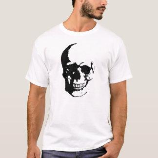 Camiseta blanca negra del arte de la fantasía del