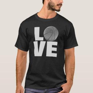 Camiseta blanca negra del baloncesto del amor