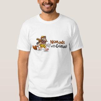 Camiseta blanca - nómadas con las gónadas remera