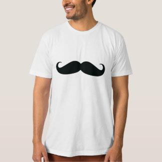 Camiseta blanca orgánica del bigote de los hombres camisas