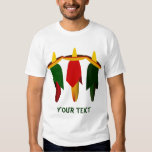 Camiseta blanca para hombre de tres pimientos playera