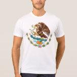 Camiseta blanca para hombre del escudo de armas de