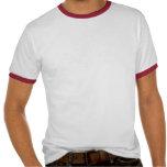Camiseta blanca/roja del vintage del campanero