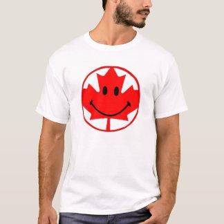 Camiseta blanca sonriente de Canadá