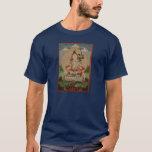 Camiseta blanca tibetana de Tara de la tela de