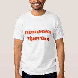 Camiseta-blanco crudo/rojo del ` de Sta de la Playera