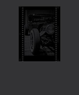 Camiseta blanco y negro de Filmstrip del coche de