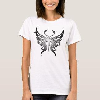 ¡Camiseta blanco y negro de la mariposa! Playera