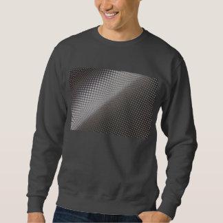 camiseta blanco y negro ondulada de los puntos sudadera