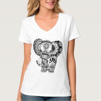 Camiseta bohemia del elefante playera