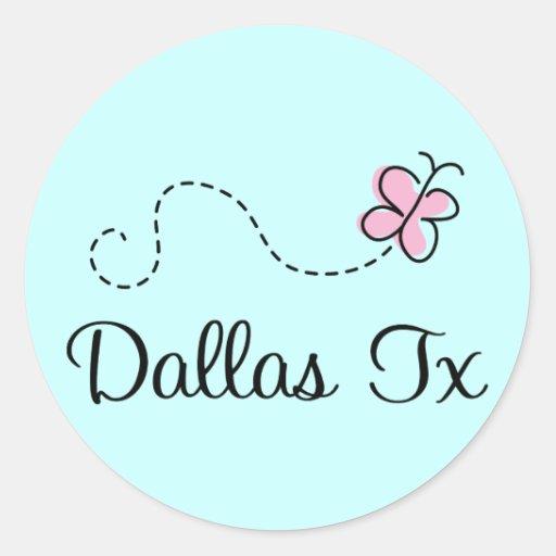 Camiseta bonita de Dallas Tejas Pegatinas Redondas
