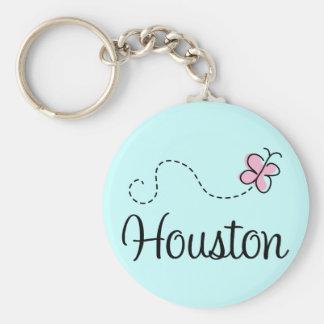 Camiseta bonita de Houston Tejas Llavero Redondo Tipo Pin