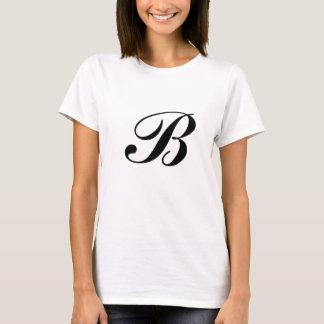 Camiseta bonita de la escritura B Bolingbrook para