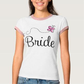 Camiseta bonita de la novia del día de boda remeras