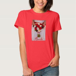Camiseta bonita del diseño del ramo de la novia camisas
