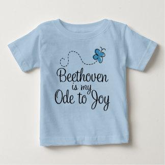 Camiseta bonita del niño de la cita de la música
