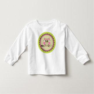 Camiseta bonita del pequeño búho playeras