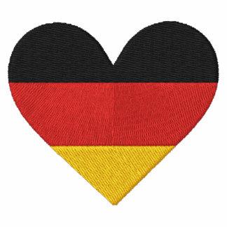 Camiseta bordada bandera del corazón de Alemania