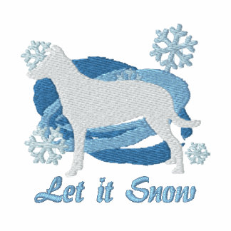 Camiseta bordada collie liso del copo de nieve