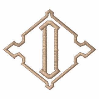 Camiseta bordada D bonita del monograma