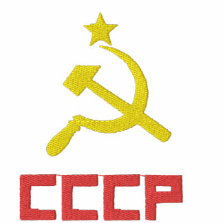 Camiseta bordada de CCCP