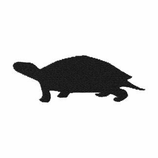 Camiseta bordada de la mujer de la tortuga
