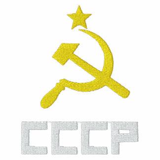 Camiseta bordada de las mujeres de CCCP