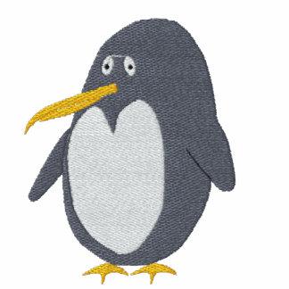 Camiseta bordada de las mujeres del pingüino