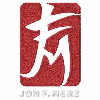 Camiseta bordada del logotipo de JFM