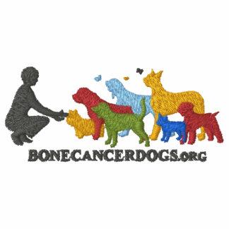 Camiseta bordada del logotipo del color