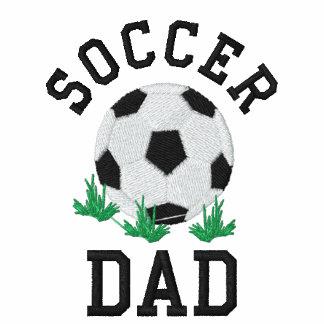 Camiseta bordada del papá del fútbol