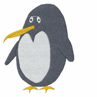Camiseta bordada del pingüino