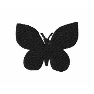 Camiseta bordada mariposa reflejada de las señoras
