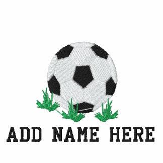 Camiseta bordada nombre personalizada del fútbol