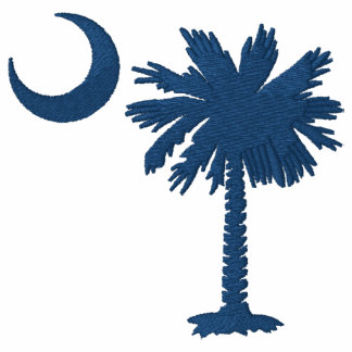 Camiseta bordada Palmetto azul